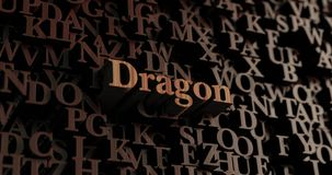 Dragon - Wooden 3D rendered letters/message Stock Image