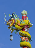 Dragon wrapped around a pole Royalty Free Stock Photo
