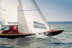 Dragon yacht at regatta Royalty Free Stock Photo