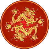 Dragon year 2012. Illustration - two dragons as a traditional symbol year 2012. Chinese zodiac Royalty Free Stock Photos