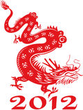 Dragon year  2012. Chinese zodiac. Chinese zodiac dragon. Symbol of the 2012 year Royalty Free Stock Photo