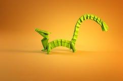 Dragon on yellow Stock Photo