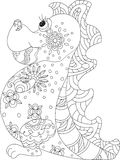 Dragon zentangle stock illustration