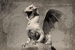 Dragon (Zmajski most), symbol of Ljubljana, Slovenia Stock Images