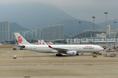 Dragonair Airbus 330-300 at Hong Kong Airport Stock Photos