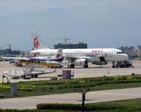 Dragonair. At Sanya Phoenix international airport Stock Images