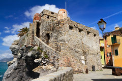 Dragonara castle in Camogli Stock Images