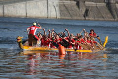 dragonboat tävlings- prague Arkivbild