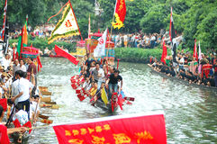 Dragonboat traditionnel Images libres de droits