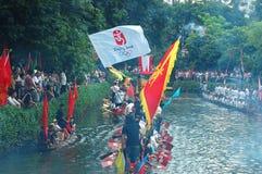 Dragonboat traditionnel Photographie stock libre de droits