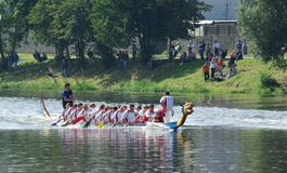 Dragonboats in Beroun 5 Stock Fotografie