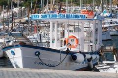 Dragonera ferry Stock Image