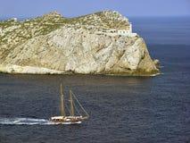 Dragonera Island, Mallorca, Spain. Dragonera Island, opposite the village of Santelmo, Mallorca, Spain Stock Photo