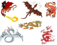 dragones foto de archivo