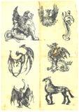 Dragones Imagen de archivo libre de regalías