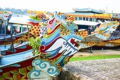 Dragones de agua del río de Huong, tonalidad de Thua Thien, Vietnam fotografía de archivo libre de regalías