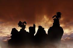 Dragones de la fantasía Fotografía de archivo