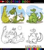Dragones de la fantasía para el colorante Foto de archivo
