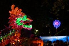 Dragones de la iluminación en Año Nuevo chino Fotografía de archivo libre de regalías