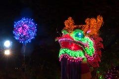 Dragones de la iluminación en Año Nuevo chino Fotos de archivo