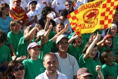 Dragones de los catalanes contra St Helens Imagenes de archivo
