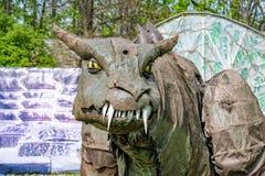 Dragones en el castillo de Ranis imagenes de archivo
