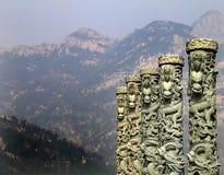Dragones, montaje Tai, China foto de archivo libre de regalías