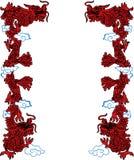 Dragones rojos Foto de archivo libre de regalías