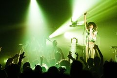 Dragonette in concert Stock Photography