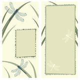 dragonflies карточки приветствуя Стоковые Фотографии RF