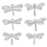 Dragonflies, abstrakcjonistyczne sylwetki na bielu Fotografia Royalty Free