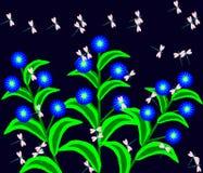 Dragonflies dance vector Stock Photo