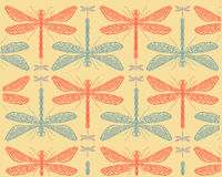 Dragonflies pattern e. Vectors illustration pattern of dragonflies insects Stock Images