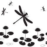 dragonfly безшовный Стоковые Изображения