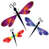 dragonfly зажима абстрактного искусства Стоковое фото RF