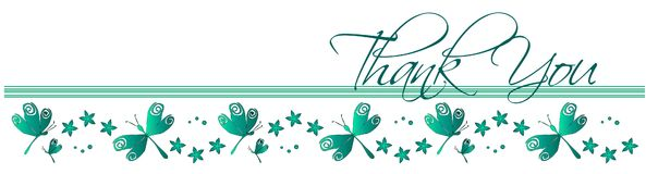 dragonfly карточки благодарит вас Стоковое Изображение