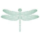 Dragonfly мозаики для красить и дизайна иллюстрация штока