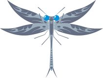 Dragonfly. Stylized dragonfly on white background Royalty Free Stock Photography