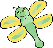 Dragonfly. Cute Cartoon Dragonfly done in illustrator Royalty Free Illustration
