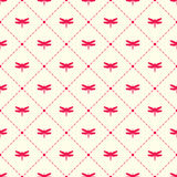 Dragonfly and argyle vector pattern Royalty Free Stock Image