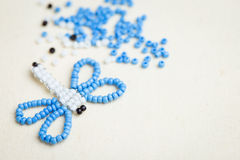 Dragonfly Bead and beads Royalty Free Stock Images