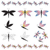 Dragonfly Borders Stock Photography