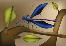 Dragonfly from children's films vector illustration