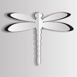 The dragonfly cut out from paper Stock Photo
