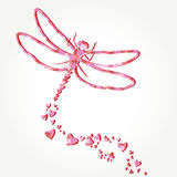 Dragonfly decal Royalty Free Stock Image