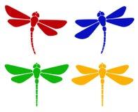 dragonfly eps8 sylwetki wektor Zdjęcie Stock