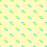 Dragonfly green blue yellow seamless pattern Royalty Free Stock Images