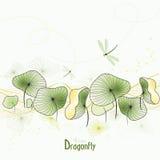 dragonfly kwiaty Zdjęcia Stock
