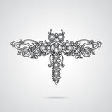 Dragonfly ornament. Dragonfly shaped ornament vector illustration Royalty Free Stock Image