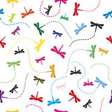 Dragonfly Pattern Seamless  background. Royalty Free Stock Image